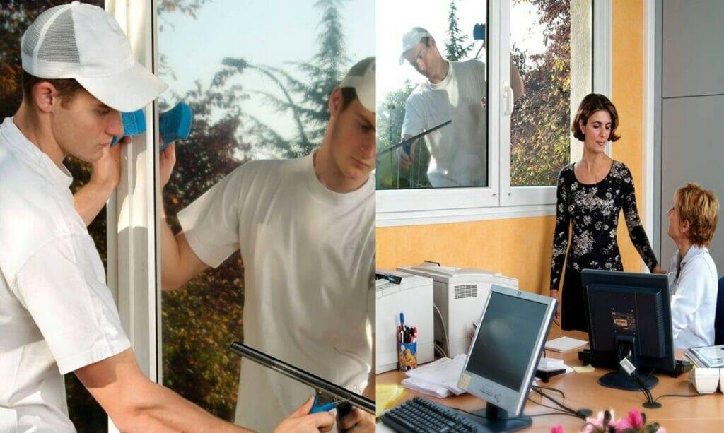 photo showing one way mirror window film working