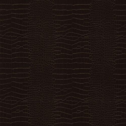 Cover Styl Chocolate Leather Crocodile Skin Vinyl Wrap Close Up