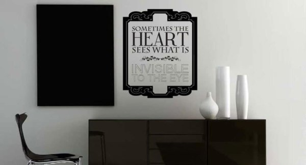 wall decal installed on living room wall
