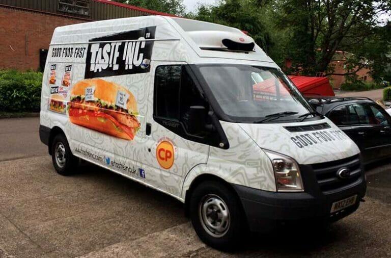 Taste inc full van signage design