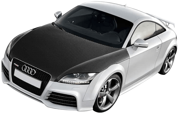 carbon fiber bonnet wrap on an Audi TT