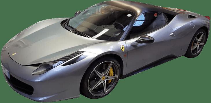 part colour change wrap on a Ferrari