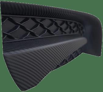 carbon fiber dechrome on a car