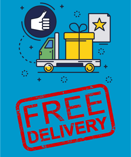 free delivery stamp and graphic