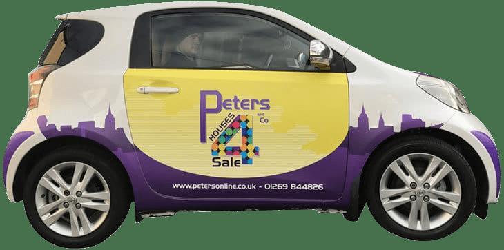 Smart car with a digitally printed wrap