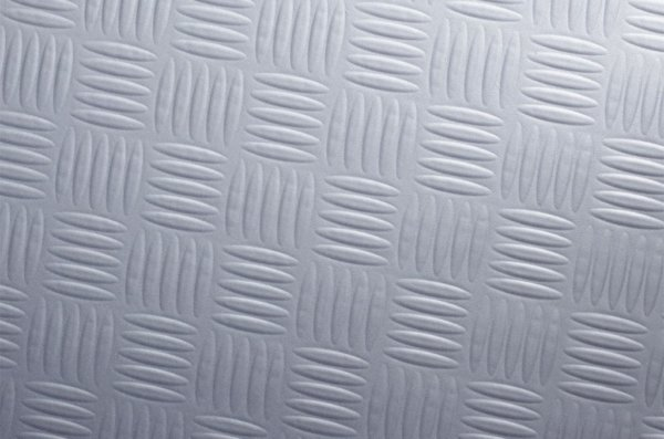 Silver chequer plate architectural vinyl wrap