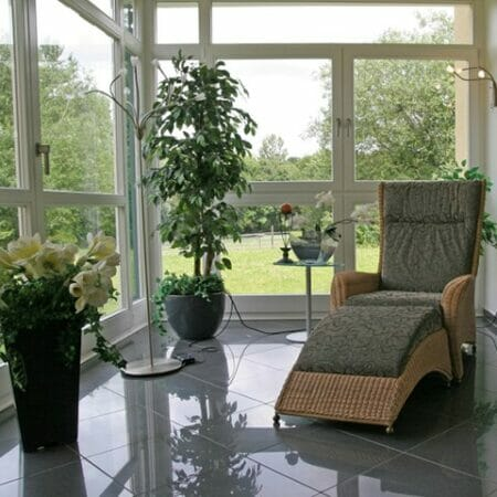 Coolclear solar window film installed on a sun room