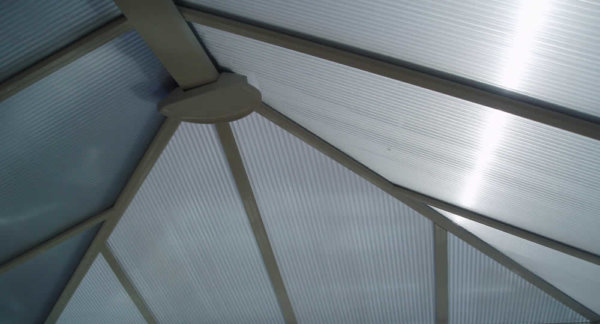 coolkote conservatory window film installed on a polycarbonate roof