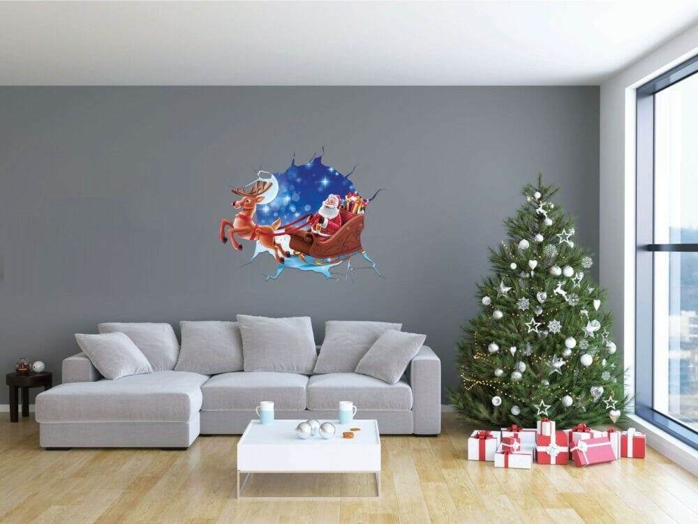 Santa and Rudolph in your wall  Evowrap