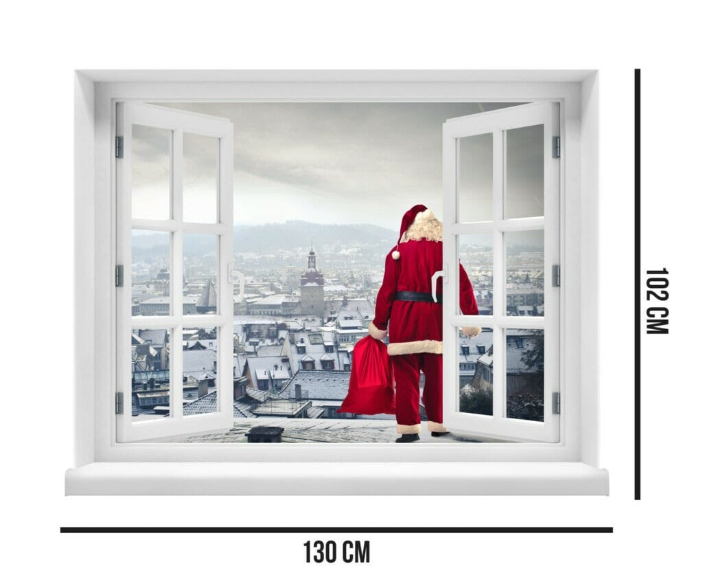 Santa Claus on the Rooftops  Evowrap - Window Film & Vinyl Wrap