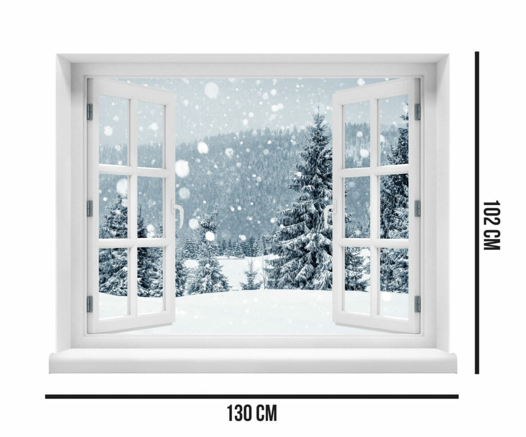 Xmas Evergreen in the Winter Snow  Evowrap - Window Film & Vinyl Wrap