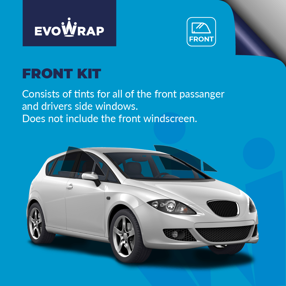 Evowarp Pre Cut Car Window Tint front kit