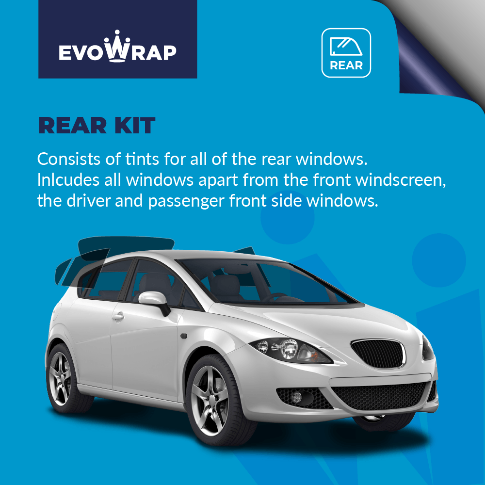 Evowarp Pre Cut Car Window Tint rear kit